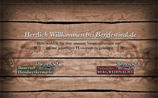 Landingpage für die Veranstaltungen Bauern- und Handwerkermarkt und Türkenfelder Bergweihnacht