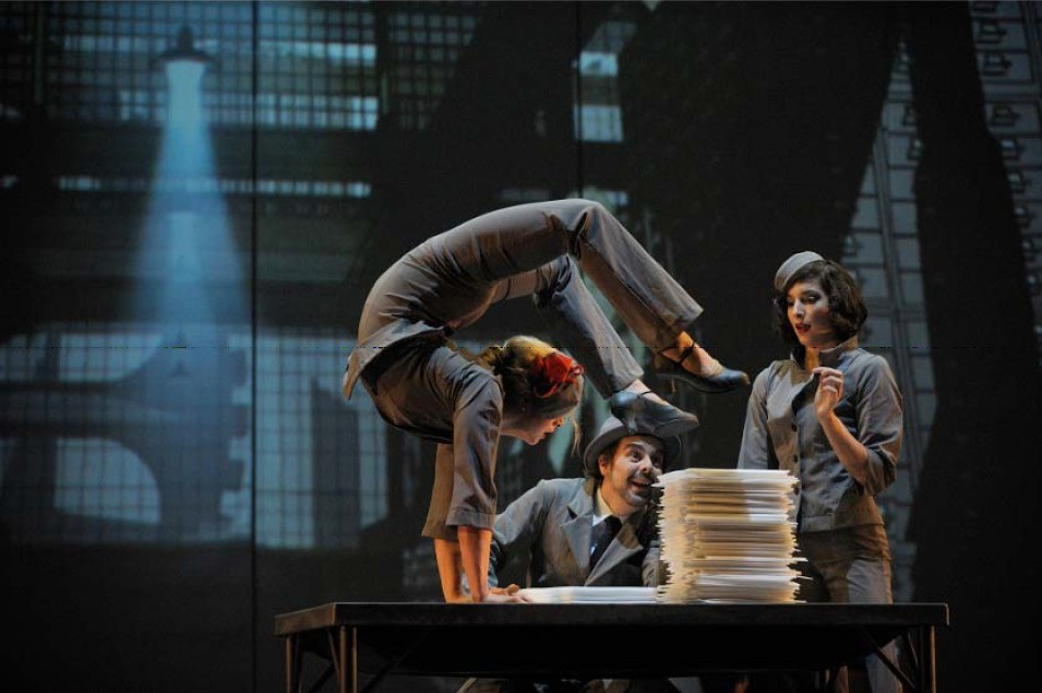 Cirque Éloize auf dem Tollwood Winterfestival 2015