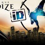 """Dir Brooklynbridge, die Skyline von Manhatten sowie ein Akrobat mit Reifen sind das Key Visual der Cirque Éloize Show """"iD"""""""
